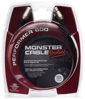 MONSTER CABLE PERFORMER P600 CAVO 9MT GOLD CONTACT
